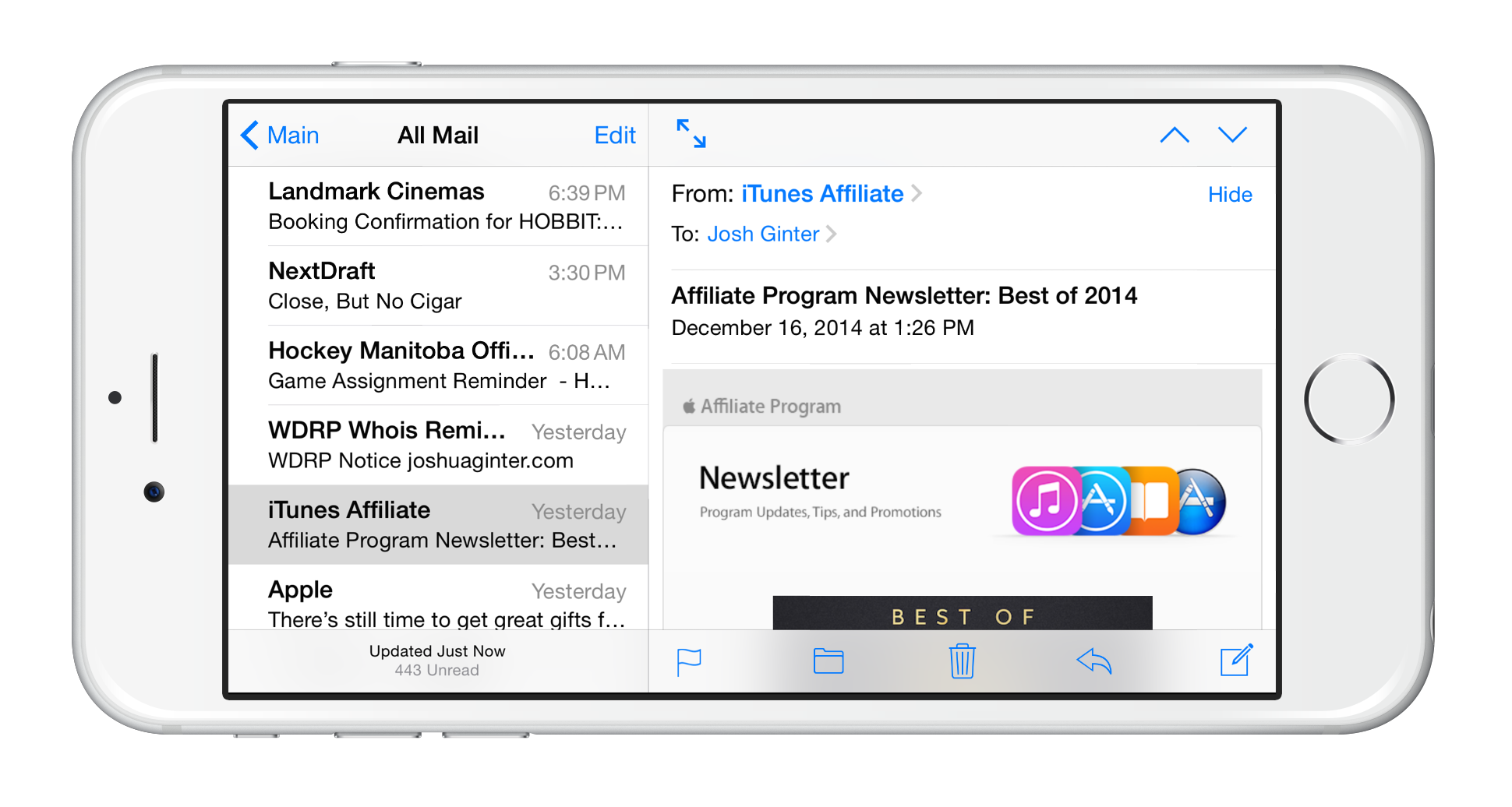 how to delete mail on iphone 6 plus