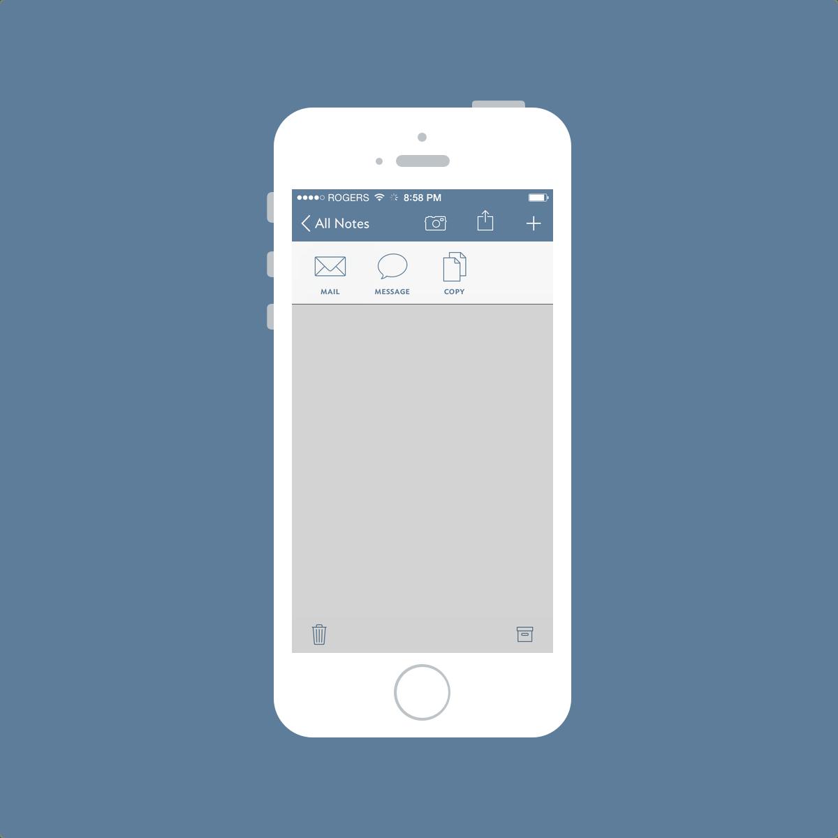 Vesper Share Sheet Screenshot