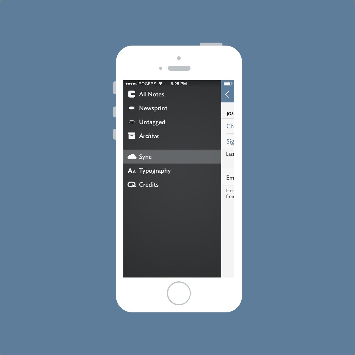 Vesper Sync Screenshot