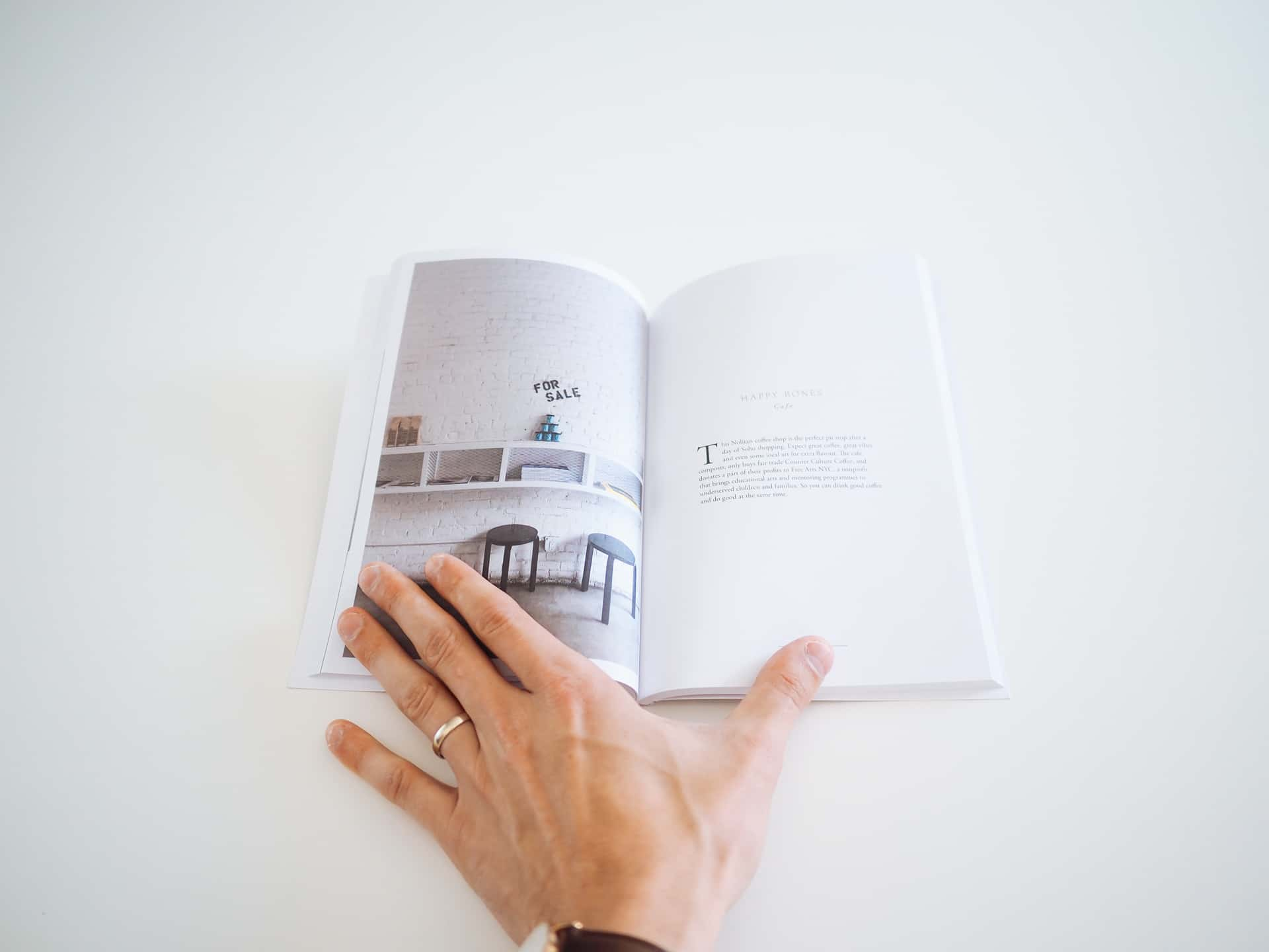 Although not a lay-flat design, the binding is thick and durable. For a travel guide, Guided's design is unprecedented.