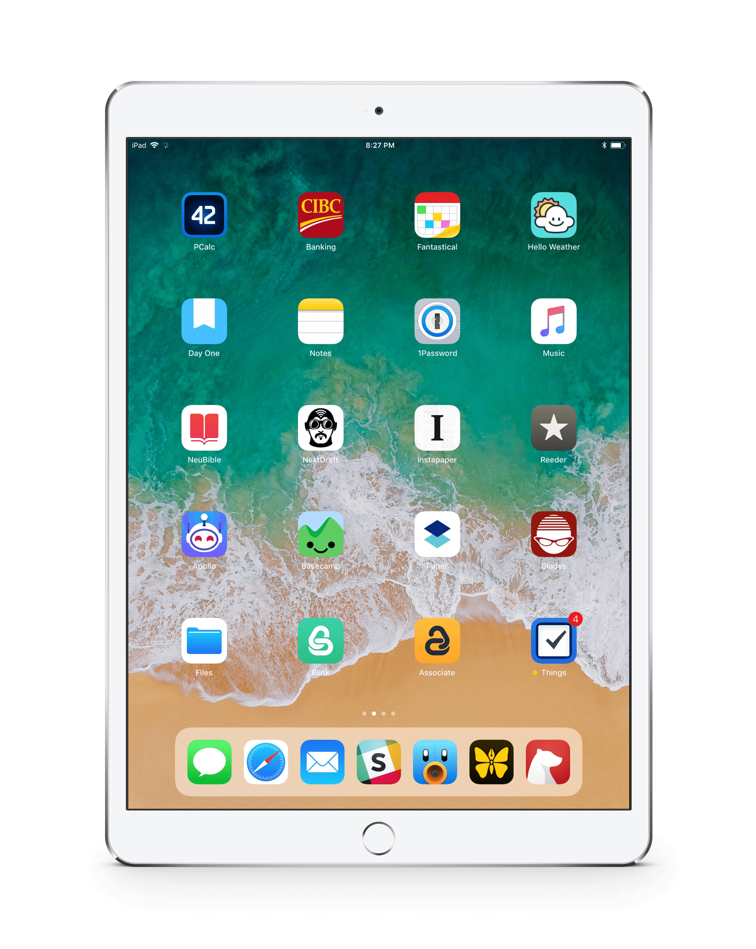 my ipad pro home screen the newsprint. Black Bedroom Furniture Sets. Home Design Ideas