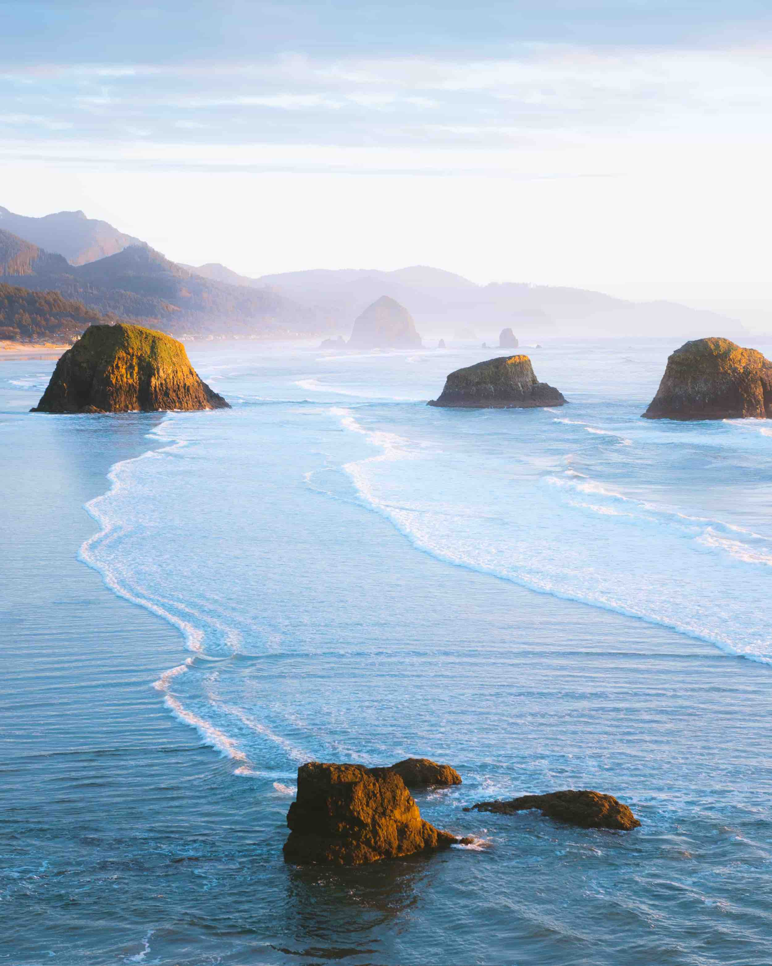 Golden hour on the Oregon Coast